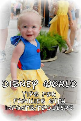 Disney World Tips for bringing infants and/or toddlers to the happiest place on earth---- includes a list of attractions and how you can bring a baby on them (holding, carrier, etc) >