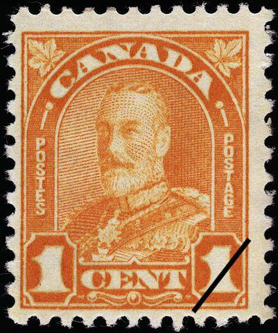 Timbre Poste Du Canada 1 Cent George V 1930 Canada