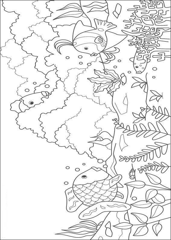 Colouring Pages Rainbow Fish : 134 best coloring pages images on pinterest