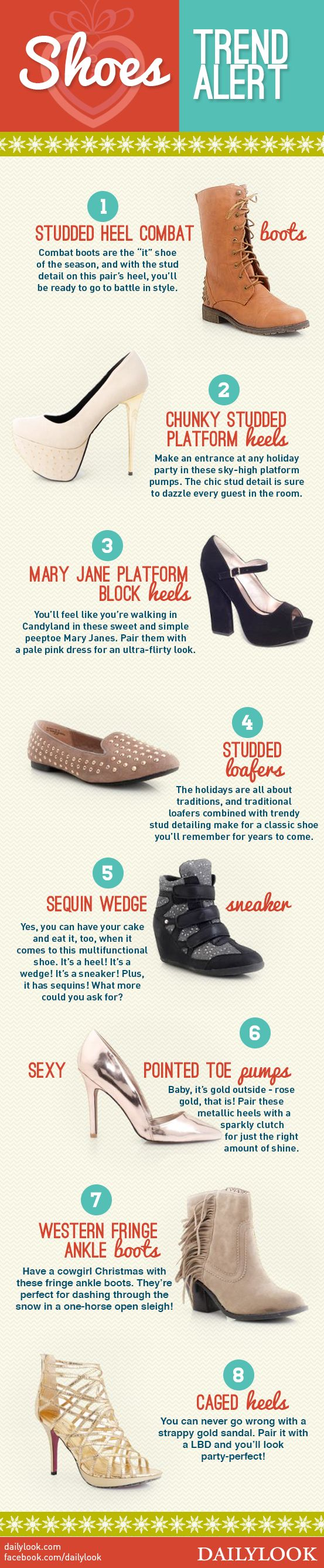 Shoes Trend Alert! A DailyLook Style Guide. Click the image link to shop these shoes! @dailylook #dailylook #dailylooksugarandspice