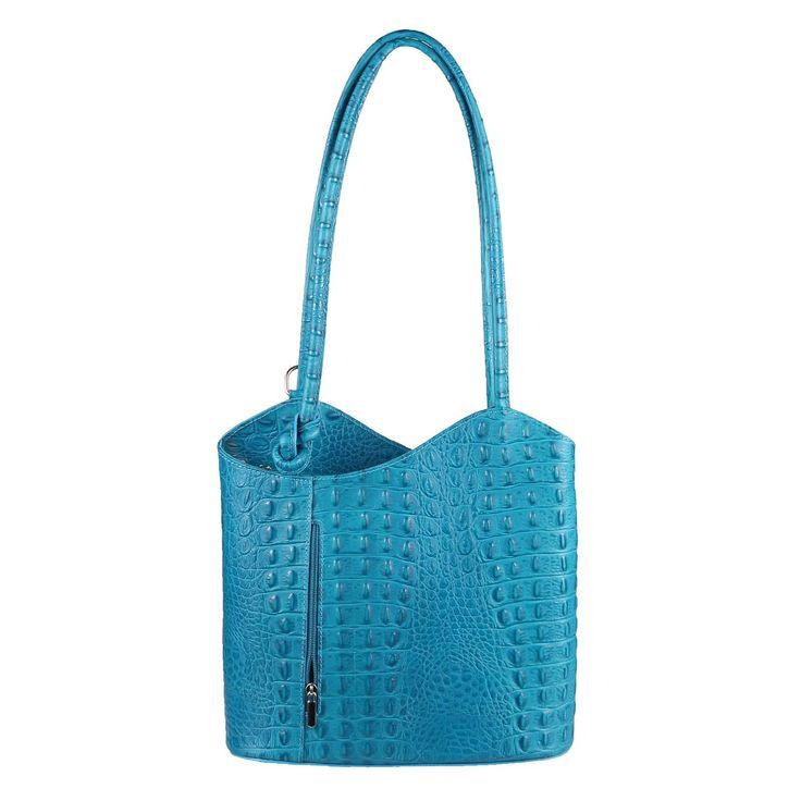OBC ITAL DAMEN LEDER TASCHE RUCKSACK Handtasche Umhängetasche Schultertasche Shopper Henkeltasche Kroko Prägung Ledertasche Backpack – Italyshop24.com