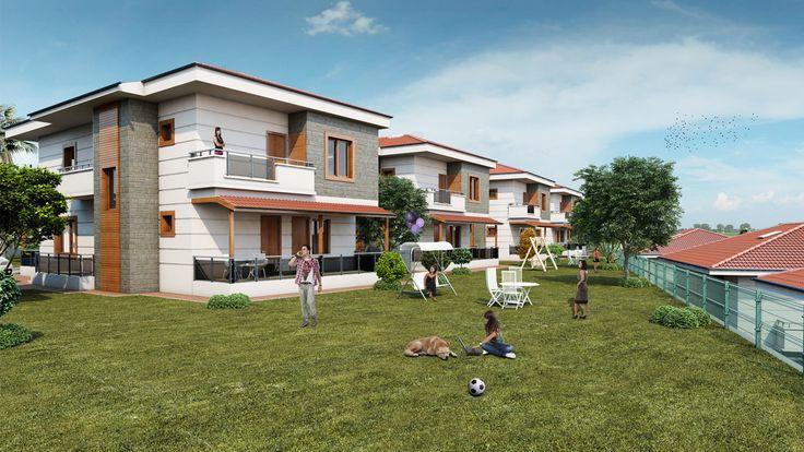 Özat İnşaat , Yeşil Vadi Evleri için hazırlamış olduğumuz 3d Tasarım çalışması