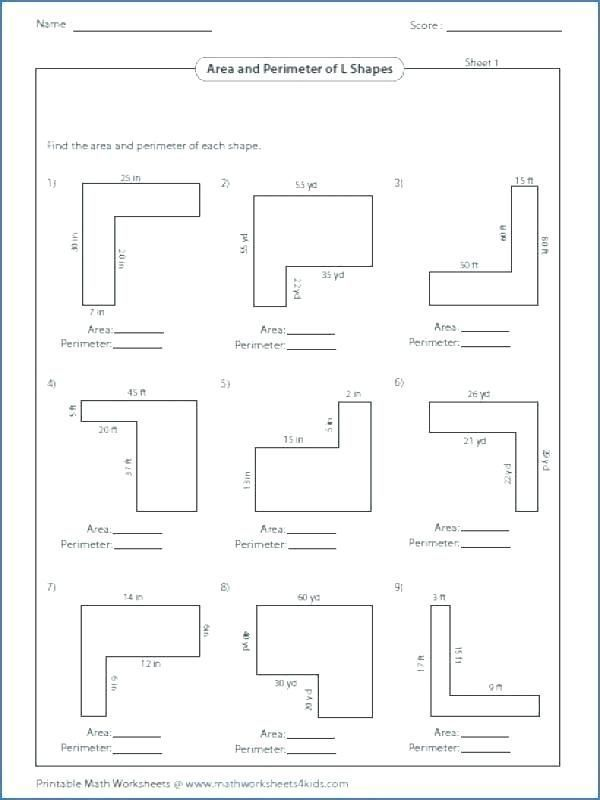 Area and Perimeter Of Compound Shapes Worksheet Answers or ...
