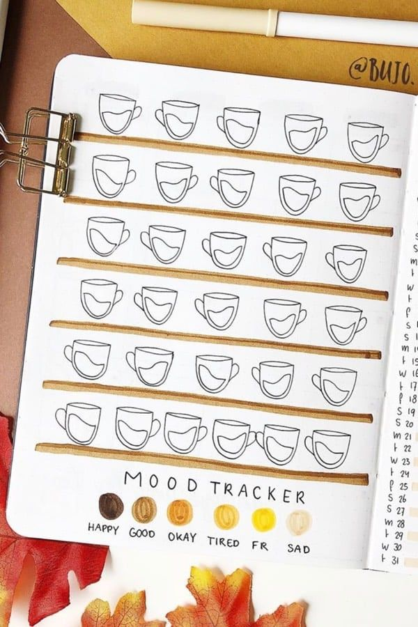 20+ Best October Mood Tracker Ideas For 2019