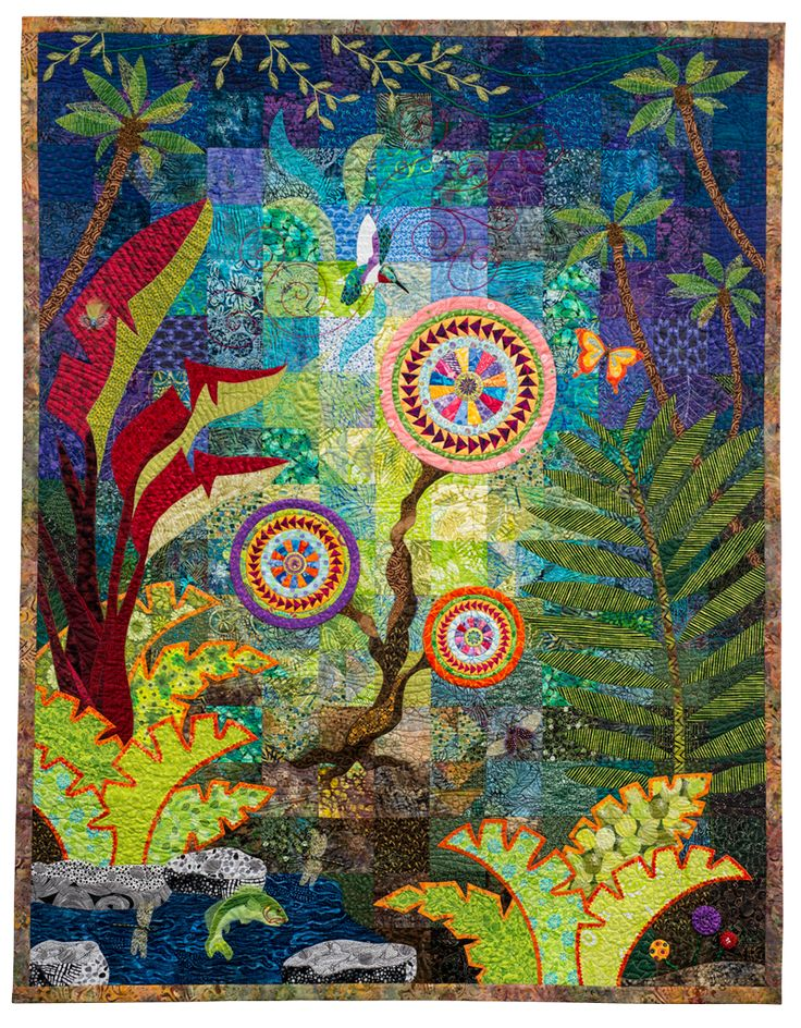 On the Wings of Eternity Jean Brueggenjohann. National Quilt Museum, New Quilts from an Old Favorite contest.