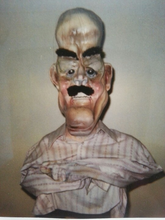 Clay sculpture of actor John Cleese