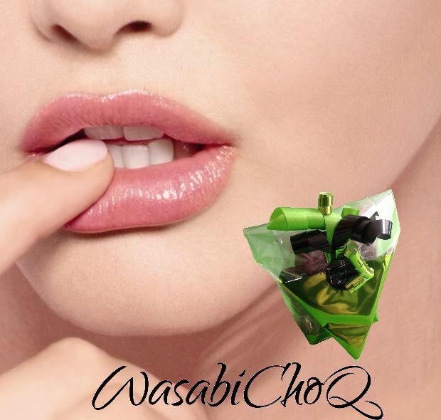 WasabiChoQ from Wasabi4You. 70.4% Callebaut Chocolat and fresh Wasabi.