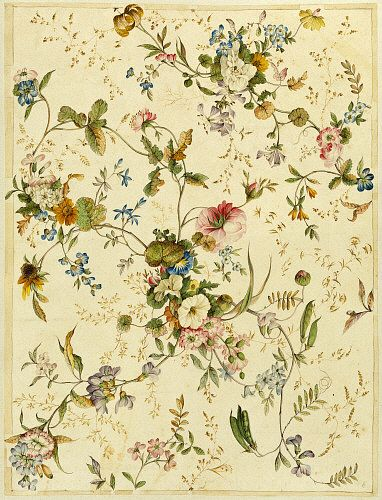 Design for Chintz, by William Kilburn. England, late 18th century