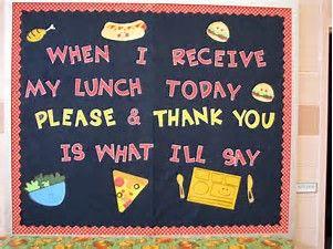 Image result for Lunchroom Bulletin Boards