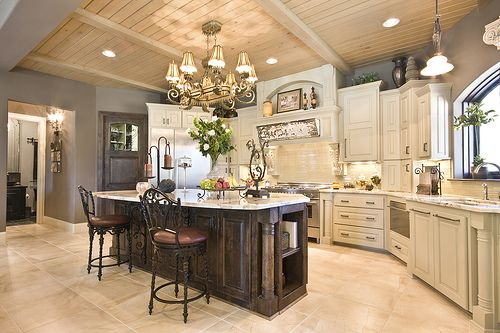 Heaven: Wall Colors, Dreams Houses, Dreams Kitchens, Grey Wall, Kitchens Ideas, Islands, Open Kitchens, White Cabinets, Dream Kitchens