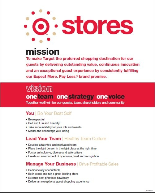 target mission and vision statement