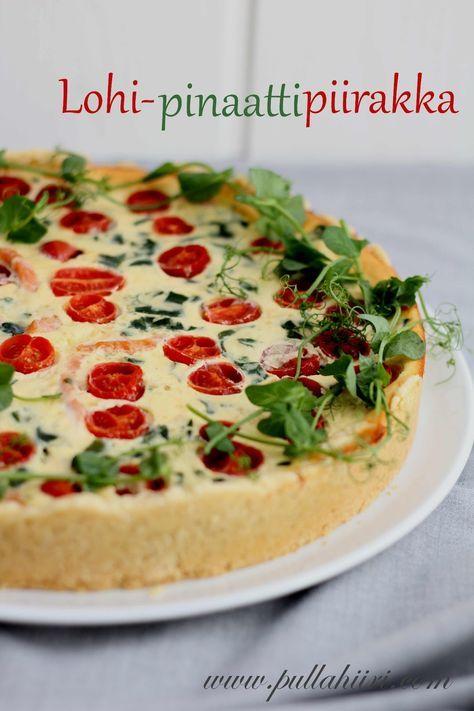 Pullahiiren leivontanurkka: Lohi-pinaattipiirakka