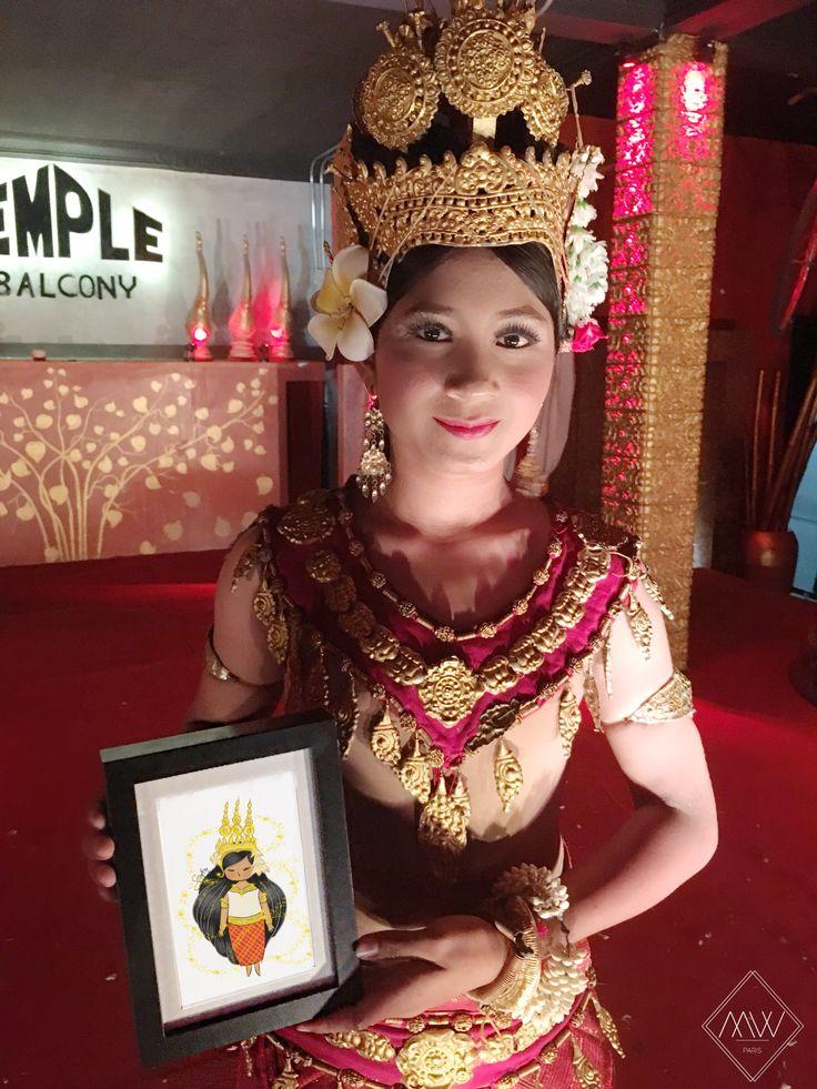 Apsaras' show in Cambodia. Instagram : maison.wanderlust #drawing #artwork #cute… – cute cute