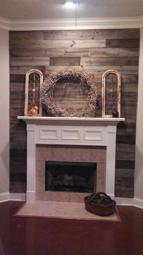 My Renovated Fireplace Made With Repurposed Wood For The Home Pinterest Repurposed