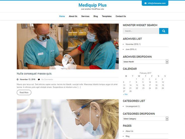 70+ active install of Mediquip Plus Download Mediquip Plus #medical #WordPresstheme on wordpress.org https://goo.gl/hDC7U2