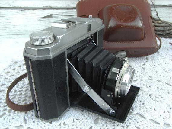Alte Kamera Balgkamera Rollfilmkamera Fotoapparat Foinar 1 5 6