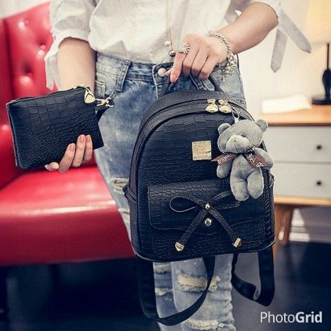 PU LEATHER SIZE LENGTH 21 HEIGHT 25 DEPTH 14 WEIGHT 690GR PINK, BEIGE, BLACK  PRICE 165K