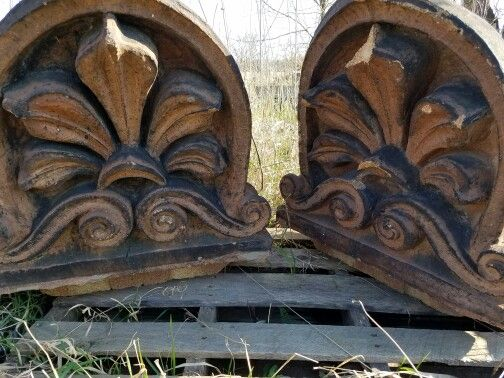 Terra cotta ornamentation from the top of a railroad station.For sale 3199310274