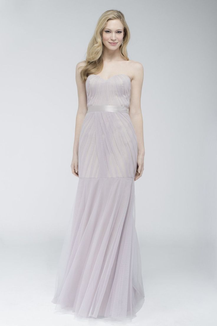 71 best unique bridesmaid dresses images on pinterest unique the luxurious feel of the sumptuous layers of bobbinet fabric comprising the figure hugging trumpet silhouette of watters wtoo 752 bridesmaid dress ombrellifo Images