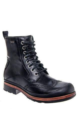 men's branton casual low heel waterproof boot  black