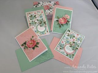 The Craft Spa - Stampin' Up! UK independent demonstrator : Birthday Bouquet Notecards Set
