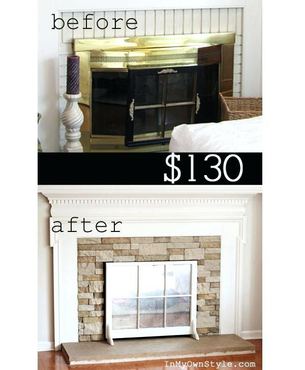 70s Stone Fireplace Makeover Home Ideas