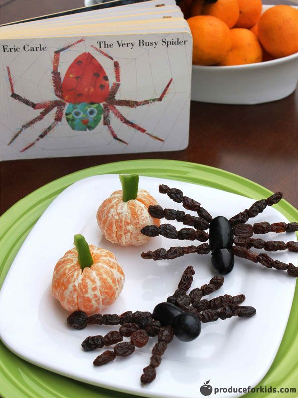 Fall is a busy time for families and spiders alike! This adorable and healthy snack is a great way to recharge after school. Spend some fun together in the kitchen while keeping up with the adventures of our favorite little arachnid in Eric Carle's The Very Busy Spider.