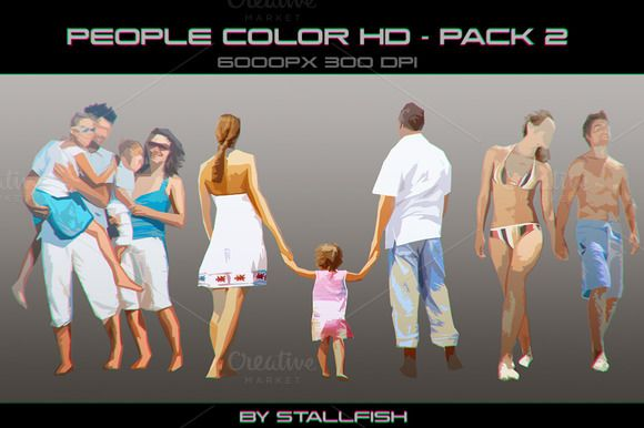 People HD color pack 02 by stallfish's art store on @creativemarket