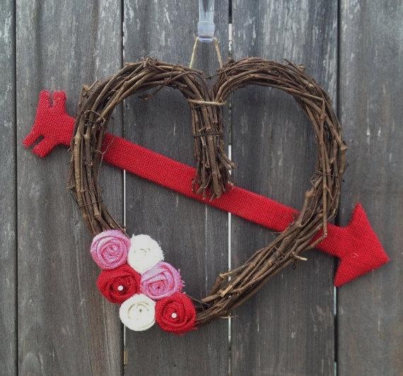 Heart Wreath Crafty Pinterest Heart Wreath Wreaths
