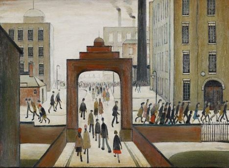 Early Morning, England, United Kingdom, 1954, by L.S. Lowry.