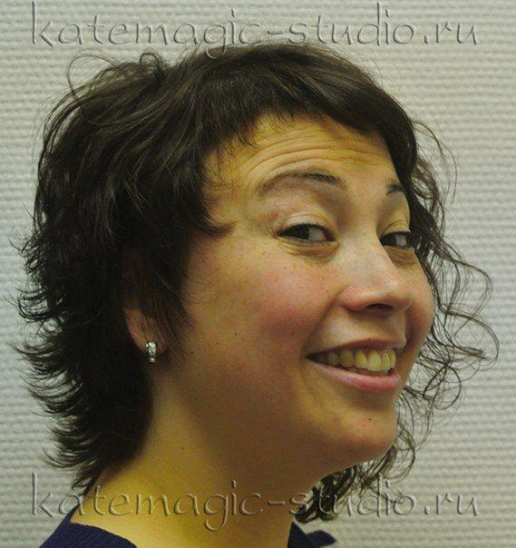 Женская стрижка, окрашивание волос, средние волосы, повседневная укладка, диффузор, ассиметрия, креативная стрижка, идея прически. Студия KateMagic. Москва, м. Борисово.  Телефон для записи: (495) 340 01 00  http://vk.com/katemagicstudio