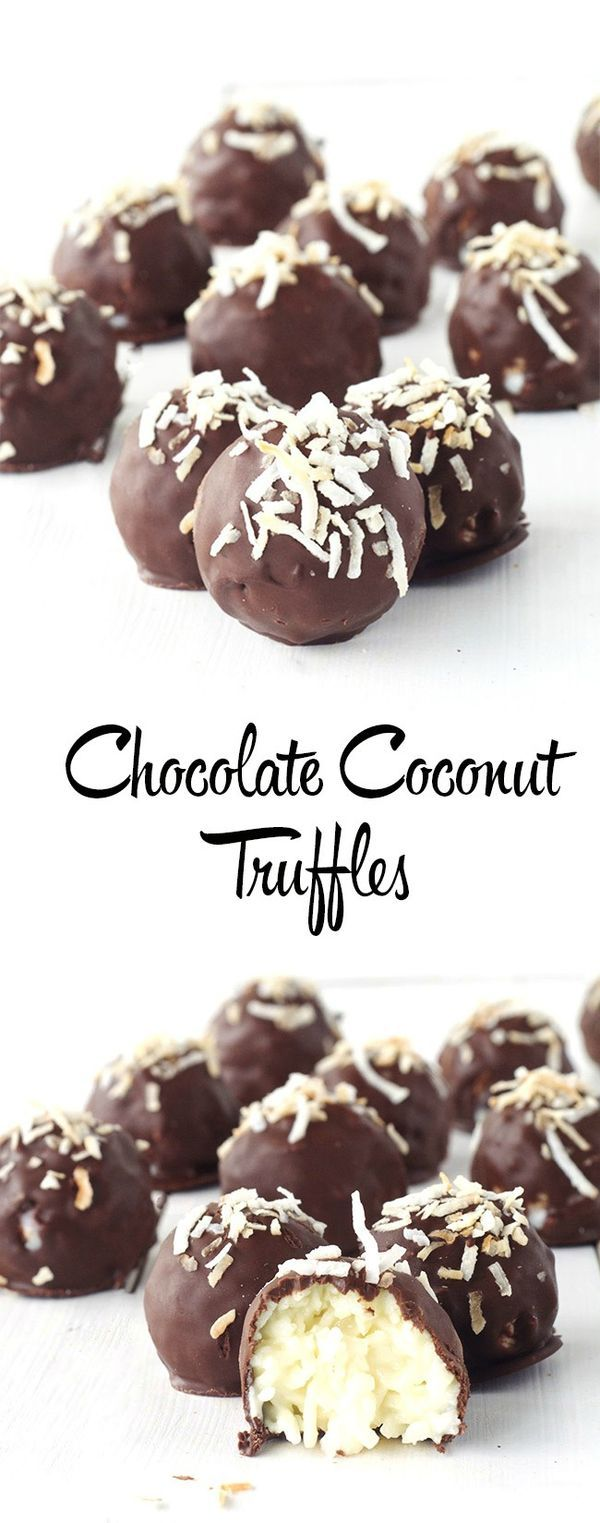 Easy Chocolate Coconut Truffles made with just 5 ingredients - gluten free and a great gift idea for all!