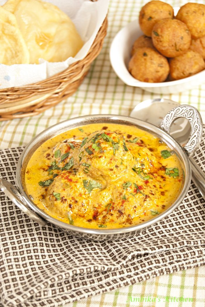 Malai Kofta - Potato & Paneer cheese dumplings in cashew-almond-cream sauce. A royal Indian delicacy!!