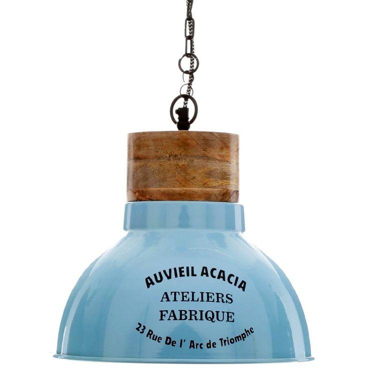 Niebieska lampa ALURO ATELIERS FABRIQUE - lampa sufitowa do kuchni - NieMaJakwDomu