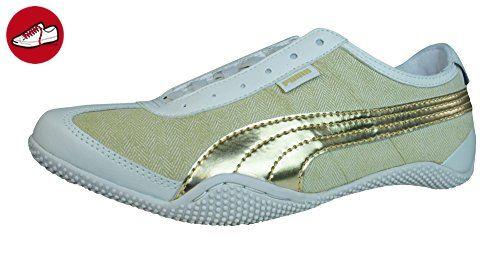 Puma Mystere Chevron Leder-Sneaker Frauen -Beige-38 - Puma schuhe (*Partner-Link)