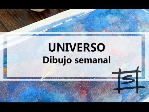 Como hacer un universo con acuarelas / Universo / Dibujo Semanal