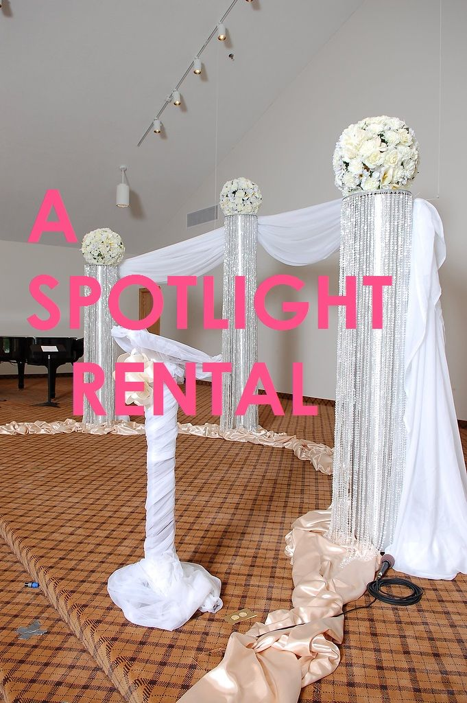 Chair Covers Rental Cheap White Dining Room Chairs Johannesburg 17 Best Ceremony Wedding Event Crystal Columns Decoration Images On Pinterest | Pink ...
