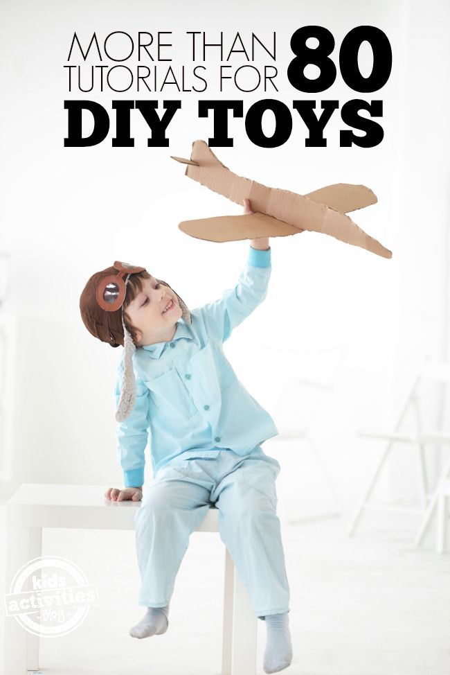 80+ DIY Toys to Make this should keep you busy for the rest of the summer!
