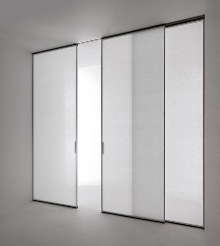Glazed sliding double door PAVILION MINIMAL by Antonio Citterio TRE-P & TRE-Piu