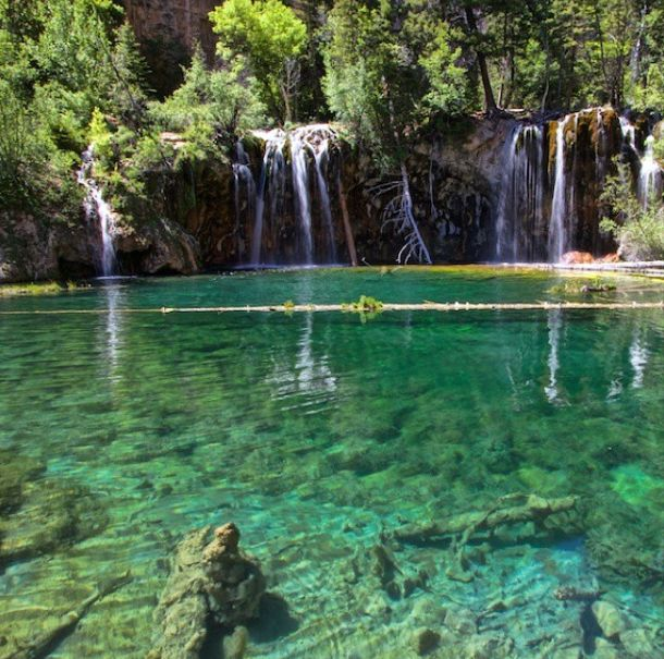 It's called Hanging Lake and it's nestled high up in the Colorado Rockies at 7000+ ft. To enjoy this turquoise hidden gem and it's 3 waterfalls you have to earn it. Hiking up a rocky and sometimes steep path 1000 ft you'll feel like taking a dip when you arrive! It was a little too chilly yesterday so I spent time taking photos instead.