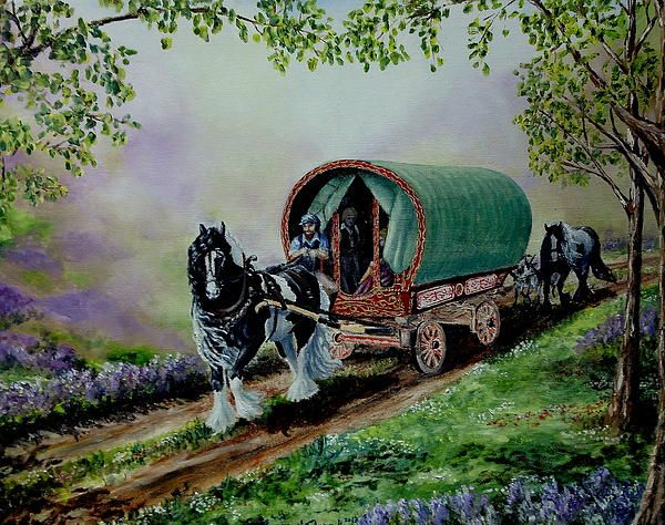 Gypsy road oil on canvas painting by ruanna s shadd a for Original fine art paintings for sale