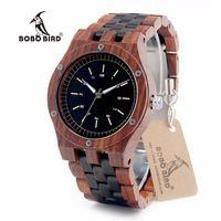 Bobo bird n18 деревянные часы erkek saatler топ роскошные деревянные группа кварцевые часы для мужчин принять лазерный логотип индивидуальные dropshipping