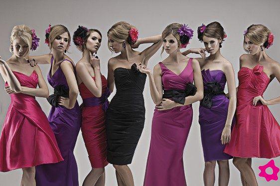Fioletowe sukienki dla druhen