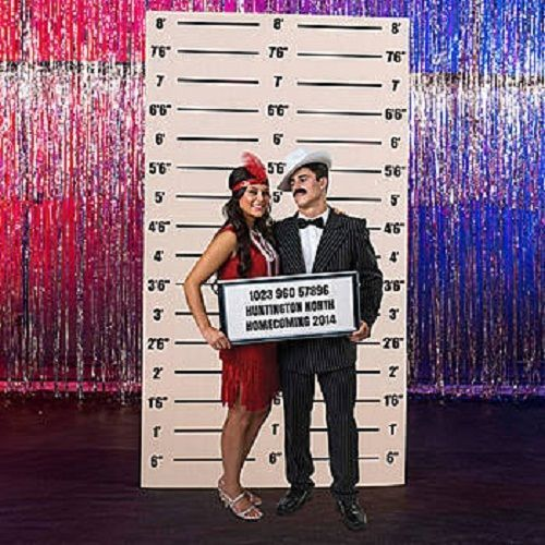 MUGSHOT BACKGROUND * 1920's twenties * party decorations * gangster * standees #1920sparty