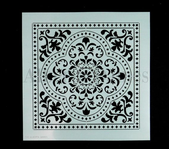 Faux Tin Tile Stencil Moroccan Love by TheAlbertaDames on Etsy
