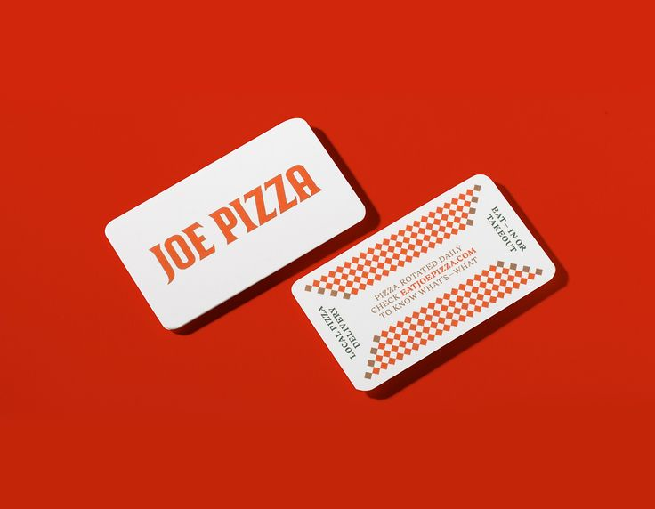 20 best business cards images on pinterest blog design inspiration branding packaging for joe pizza by glasfurd walker joe pizza is a dine in and take out restaurant in vancouvers gastown it is a roman style pizza reheart Images