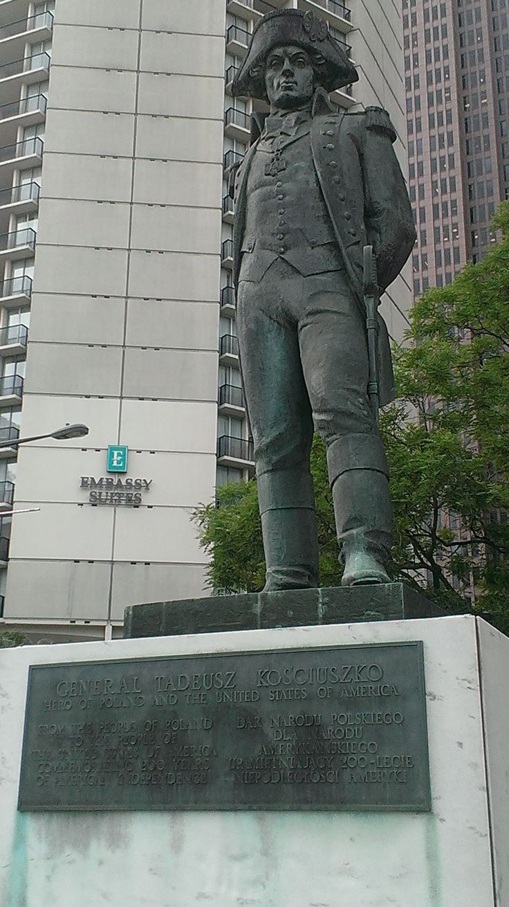 This Is A Better Picture Of The Statue Of Thaddeus Kosciuszko, Located At  18th Street