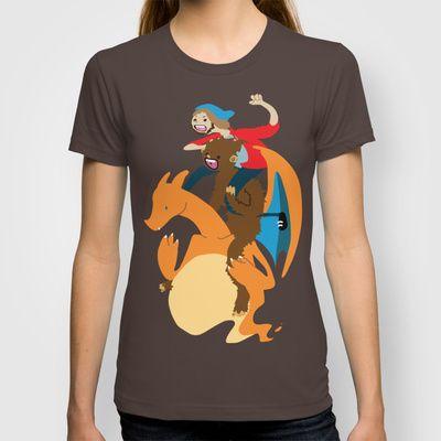 RIDING BIGFOOT RIDING DRAGON T-shirt by Sabrina Potocnik - $22.00