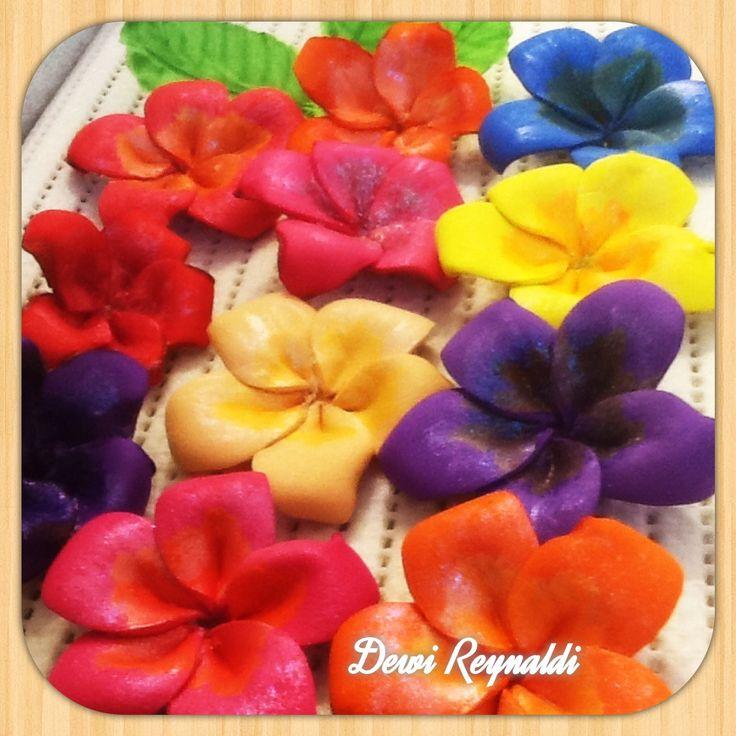 Diy How to Make Plumeria Frangipani Craft Foam Flower - Hair Bow, Brooch...