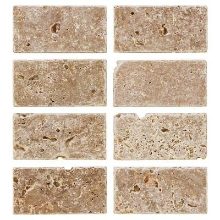 Home Depot Tiles For Bathrooms: Jeffrey Court Travertine Noce 6 In. X 3 In. Travertine